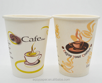 disposable yogurt/hot/cold drink single wall paper cup with plastic cup lids