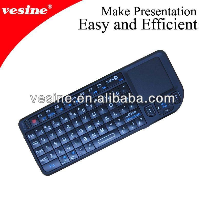 wireless air mouse with keyboard for smart tv