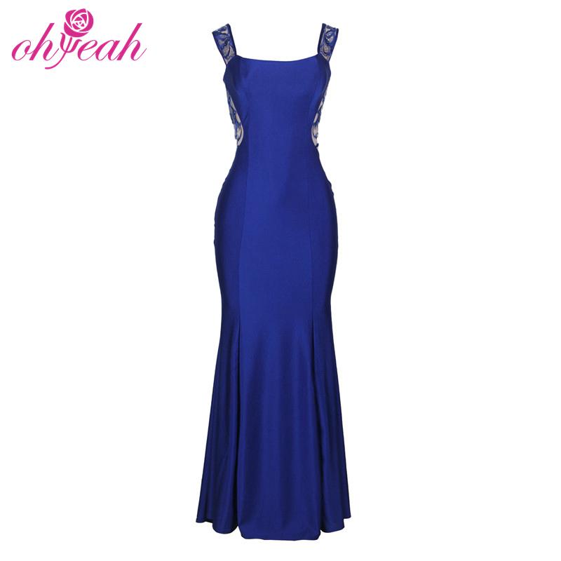 Super Sexy Big Ass Engen Abendkleid Blau Elegant Lange Pailletten ...