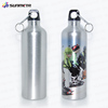 750ml Sublimation Silver and White Aluminium Sport Water Bottle
