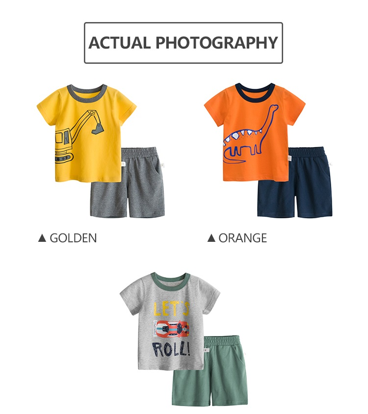 New arrival two pieces kids clothing boys sets clothing top and shorts