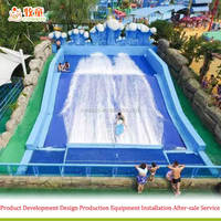 Theme Waterpark surf simulator flowrider with Wave pool machine