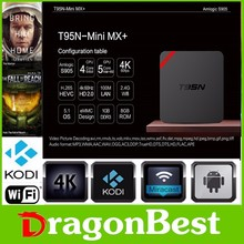 2016 portable Quad core Amlogic T95N MINI MX PLUS S905 Kodi16.0 android 5.1 tv box