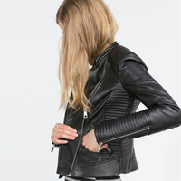 Custom Made Women Leather Motorcyle Blazer Jackets By China Factory