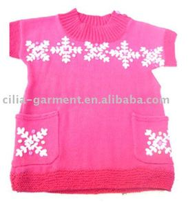 2013 new design girls pullover sweater