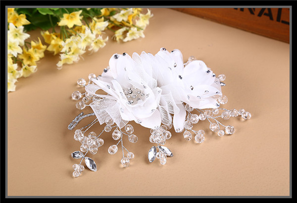China Wholesale Wedding Hair Accessories Indian Crystal Flower ...