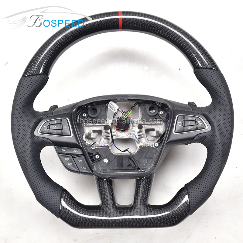 Customized Carbon Fiber Steering Wheel For Ford Focus