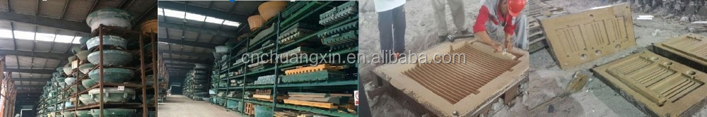 High Mn18 moving/fixed jaw plate for jaw crusher