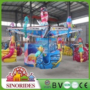 Festival family rides christmas decorations park outdoor attractions with lighting