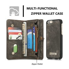 Flip Book style Strong Magnetism Leather Phone Case for Apple iPhone 6, For iPhone 6 Wallet Leather Case