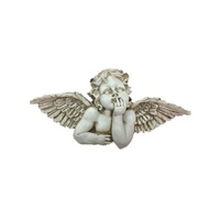 Wall Mounted Home Decoration Unpainted Angel Polyresin Figurine