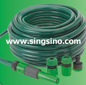100ft PVC Clear Short Coiled Garden Hose Commercial With Holder