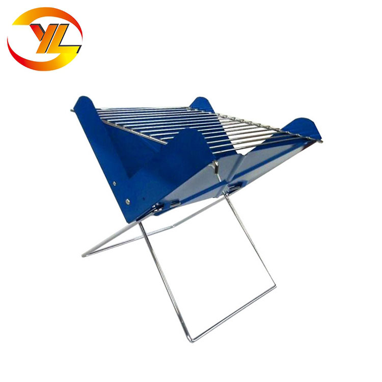 Wholesale Portable Foldable Travel Picnic Metal Notebook Charcoal Bbq Grill Simple Design