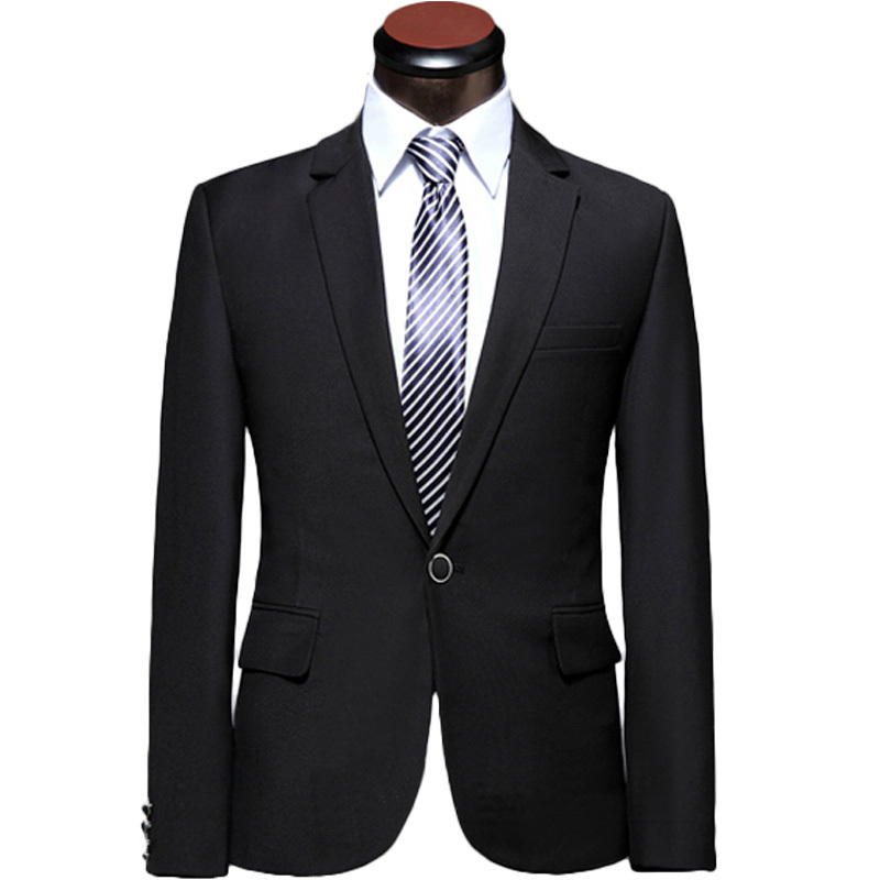 2015 New Arrival Men Suit Fashion Design Mens Black Slim Single Button Prom Tuxedo Suits With Pants Groom Wedding Suits For Men