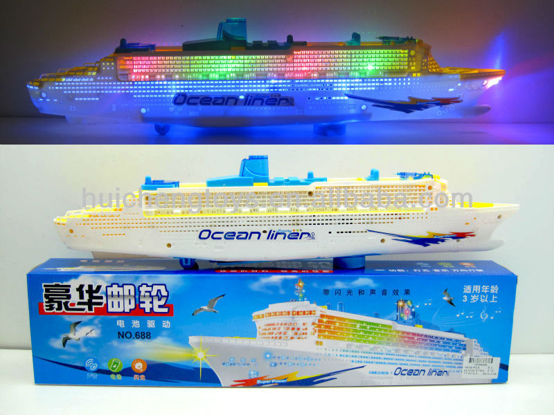 Gorgeous Cruise Ship With Brilliant Flashing Lights And Sound - Cruise ship toys for sale