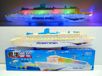 Gorgeous Cruise Ship With Brilliant Flashing Lights And Sound - Toy cruise ship