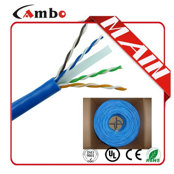 UTP/FTP/SFTP ISO9001/CE CMP 550Mhz stranded bare copper 7*0.18mm cat6 screened cable