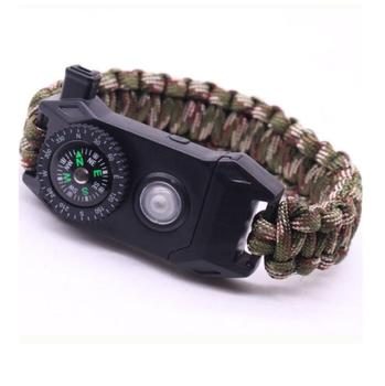 Ledway Paracord Bracelet Tactical Survival Gear Kit 6in 1 Compass