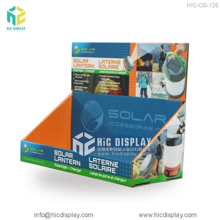 HIC Free Sample Cardboard Counter Display Led Pdq