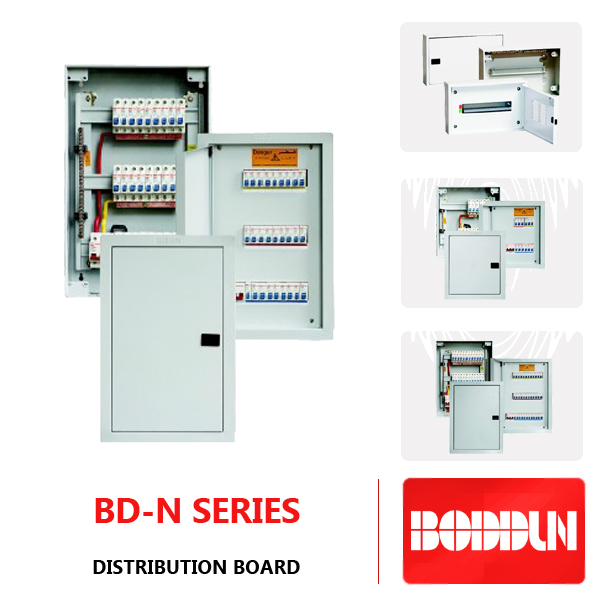 BD-N NEI THREE PHASE 12 WAYS ELECTRICAL MCB METAL DISTRIBUTION BOARD