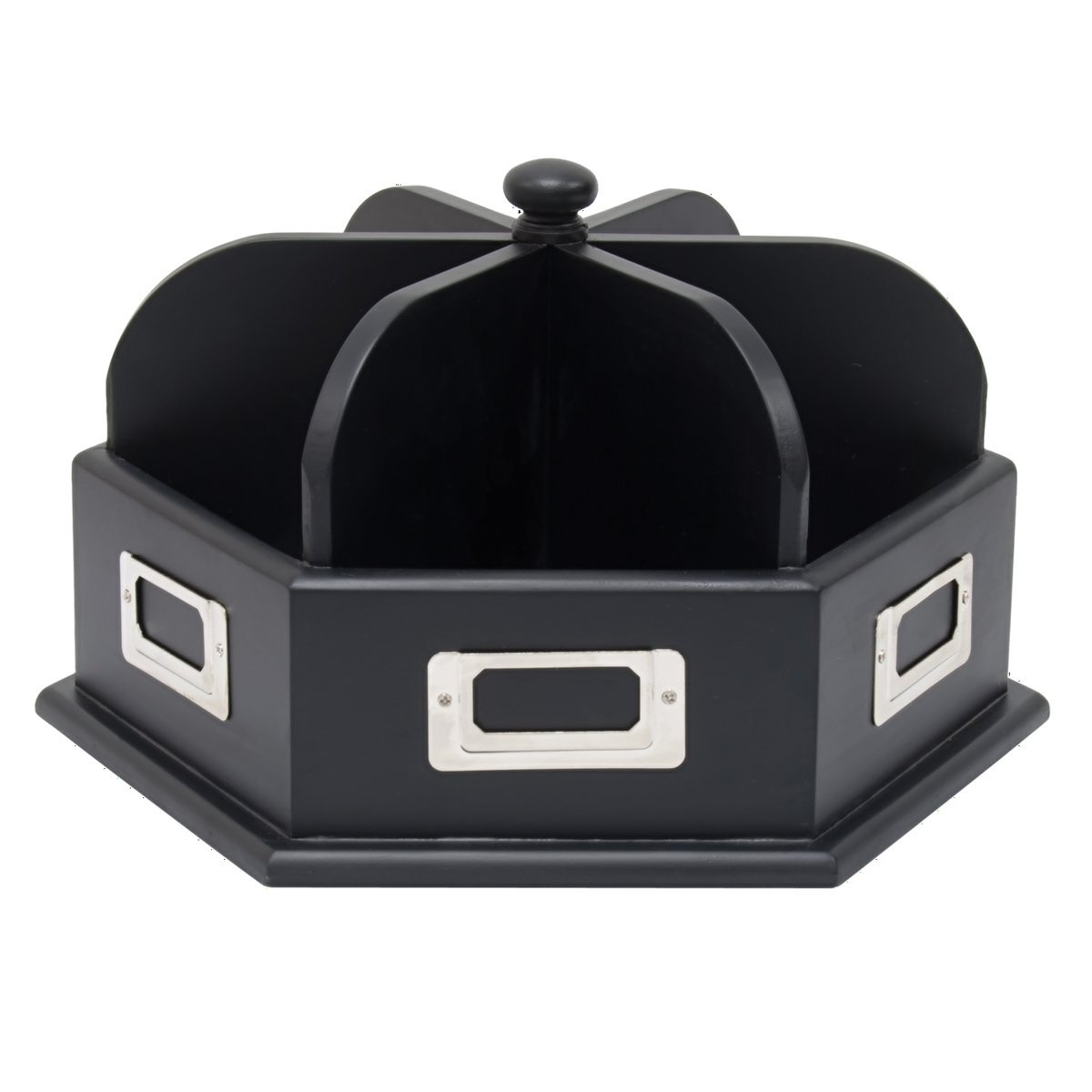 Offex Home Office Wood Desk Carousel Black