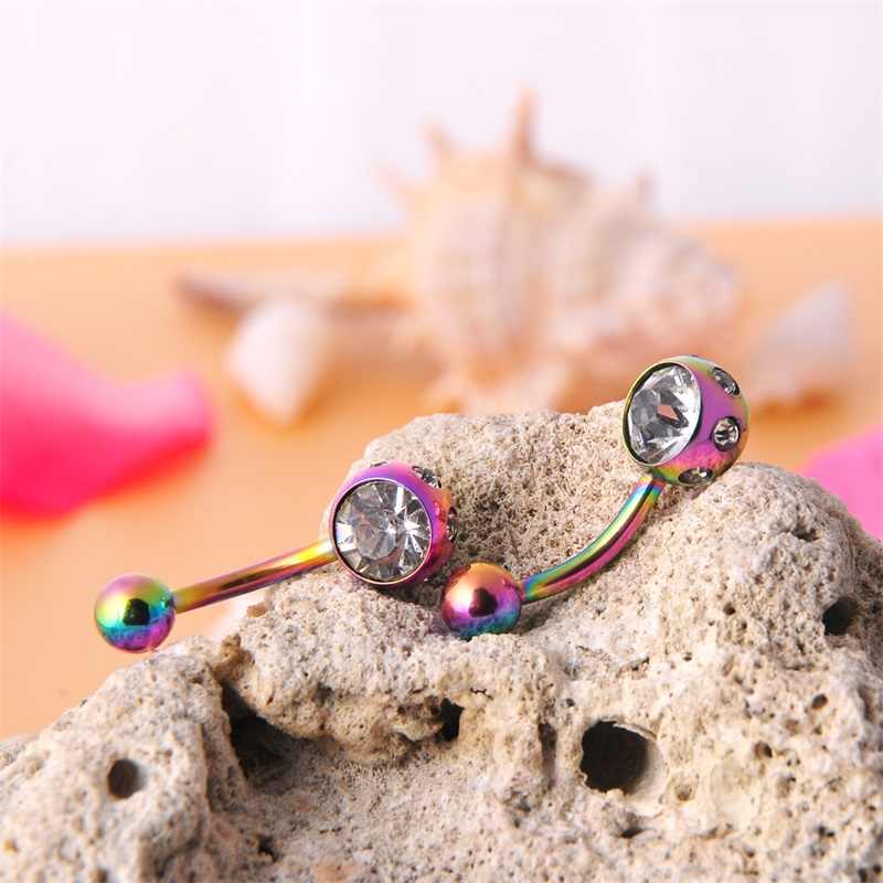 Pretty belly button piercing discobal ring navel piercing maag sieraden