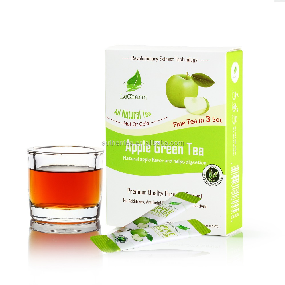 No Sugar Fresh Apple Healthy Tea Drink with Complete Multivitamin