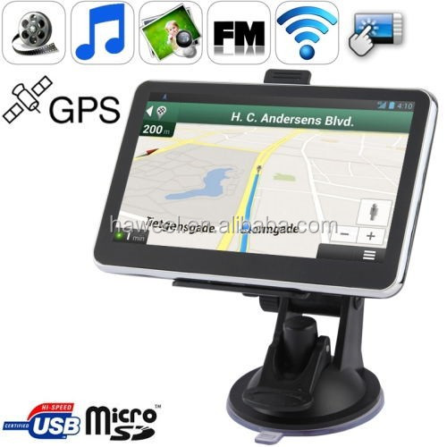 5.0 inch TFT Touch-screen Car GPS Navigator with 4GB memory and Map, Support AV In Port, Touch Pen, Voice Broadcast, etc.
