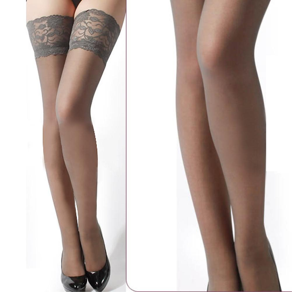Women's Sexy Stockings Thigh High Stockings Sheer Ultrathin Stockings For Women Transparent Lace Top Thigh-High Stockings EQ6623