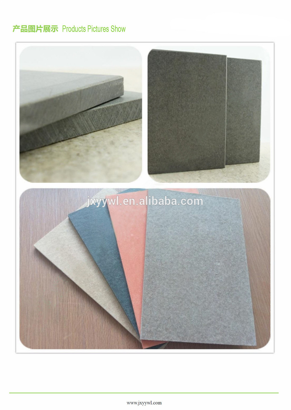 Fiber Cement Board For Explision-proof And Pressure Relief