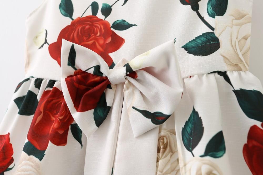 6c58e06c234 Enfants vêtements d été fantaisie rose imprimé décontracté robe jupe pull  conception de robe de