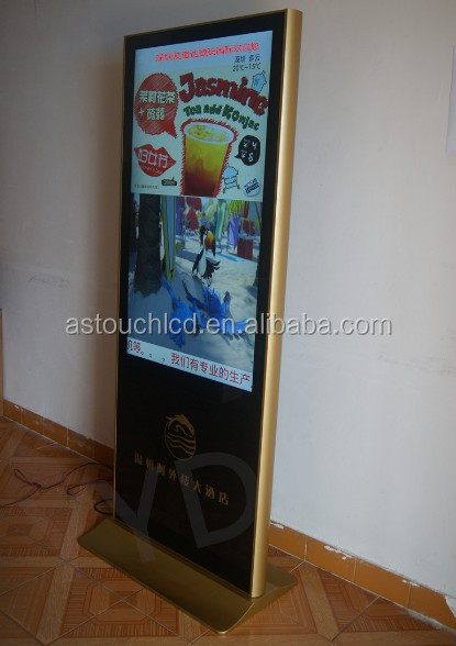 42 inch android touch indoor led floor stand advertising player