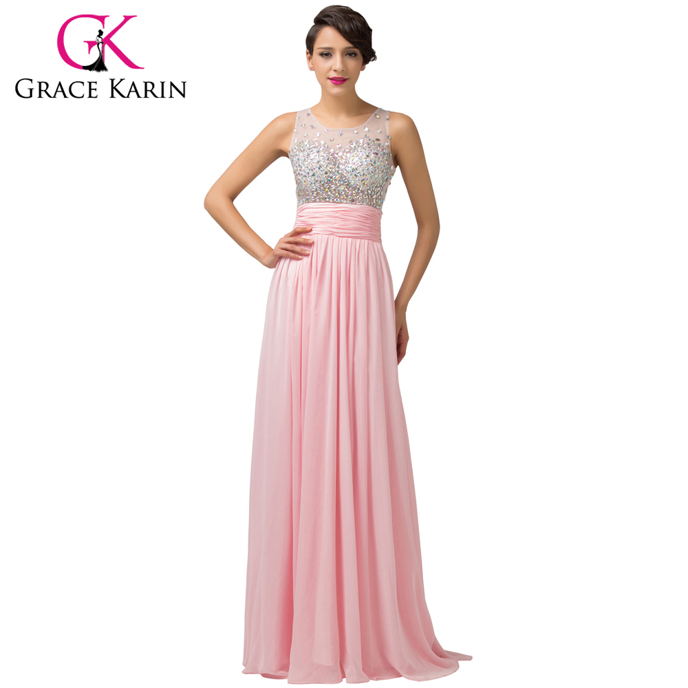 9add955a83c 5 Colors Fast Delivery Charming Beaded Long Pink Blue Green Purple Formal  Elegant Evening Dress Night