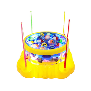 Toys 2019 New Educational Electric musical magnetic Fishing Game machine for kids