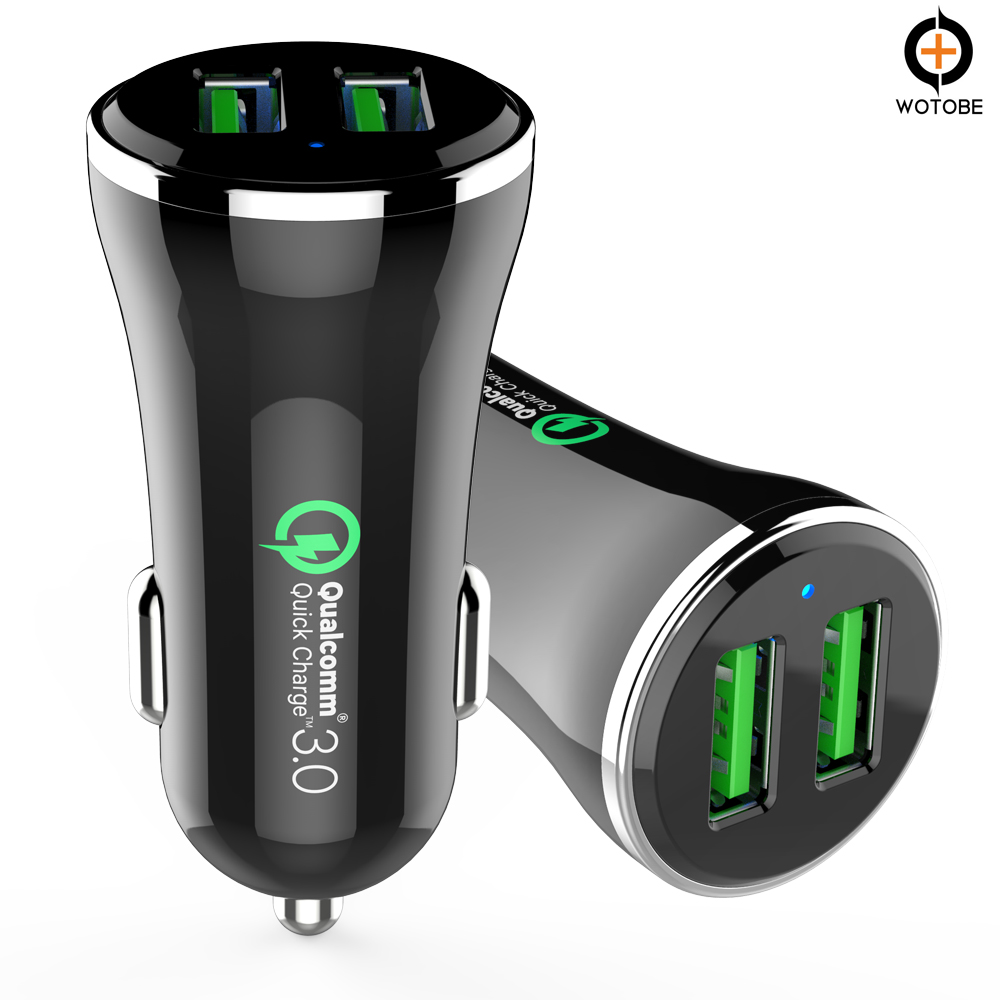 top selling gifts in alibaba emergency cell phone dual QC 3.0 charger,2 ports QC3.0 mobile car charger kit