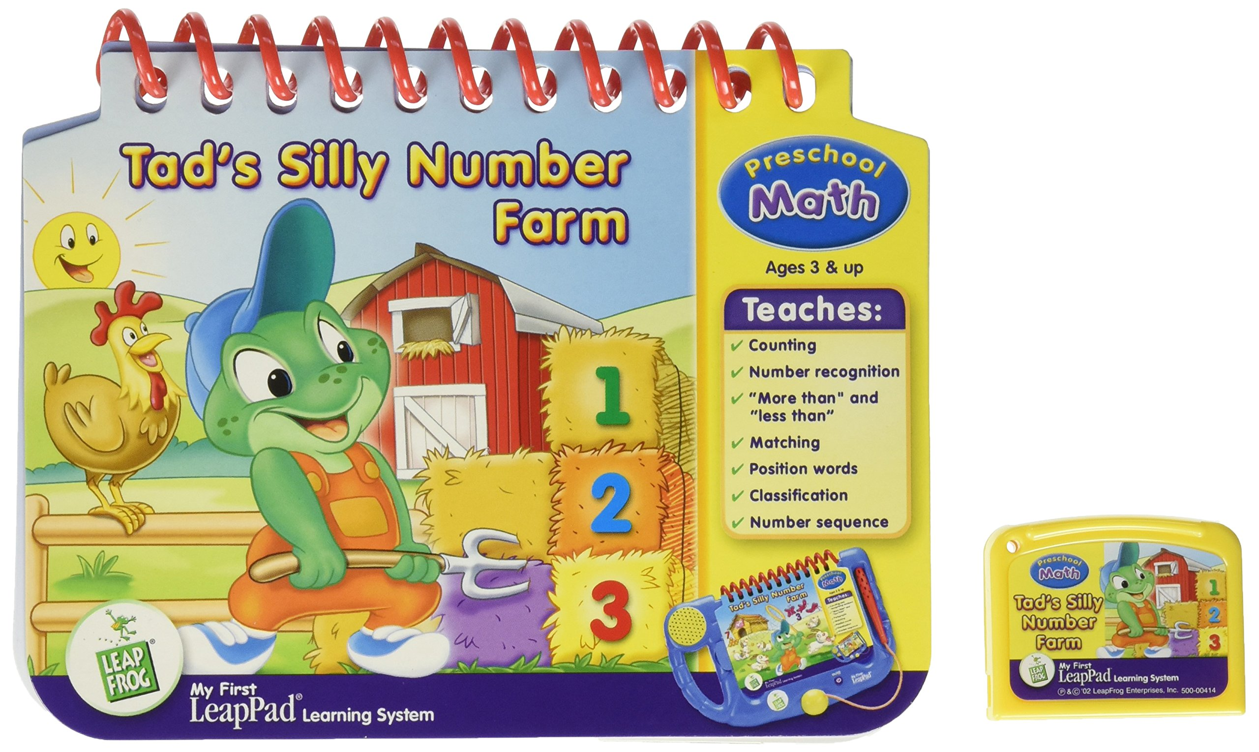 "My First LeapPad: Pre-Math - ""Tad's Silly Number Farm"" Interactive Book and Cartridge"