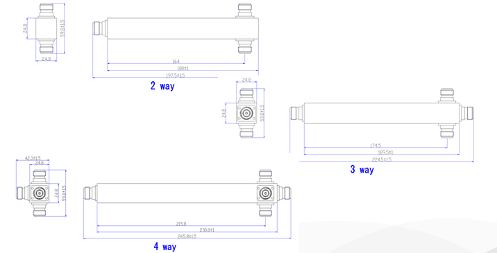 2 3 4 way rf power splitter divider
