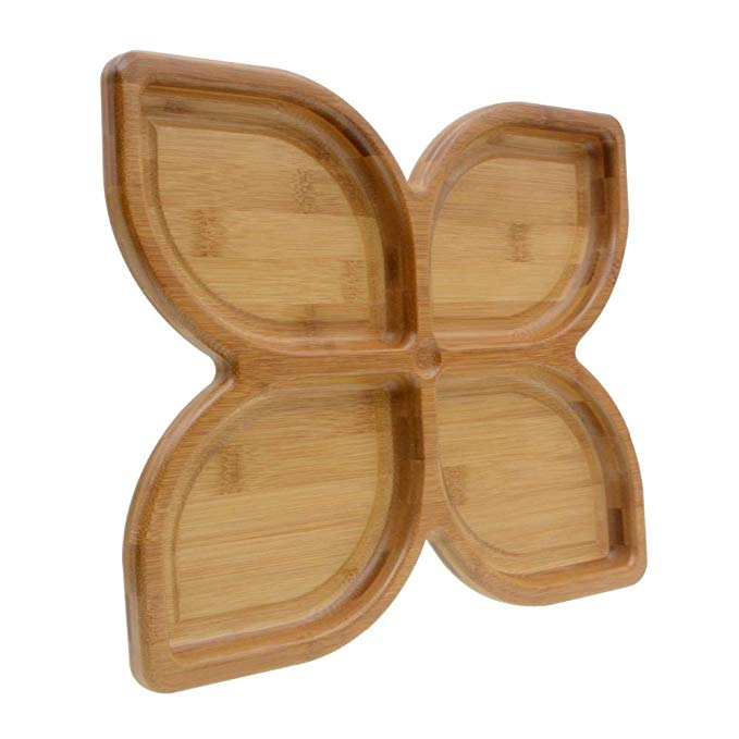 Custom Organic Bamboo Small Food Wooden Serving Plate Set 7