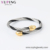 S-251 Xuping fashion nail design multicolor gold stainless steel bangle set