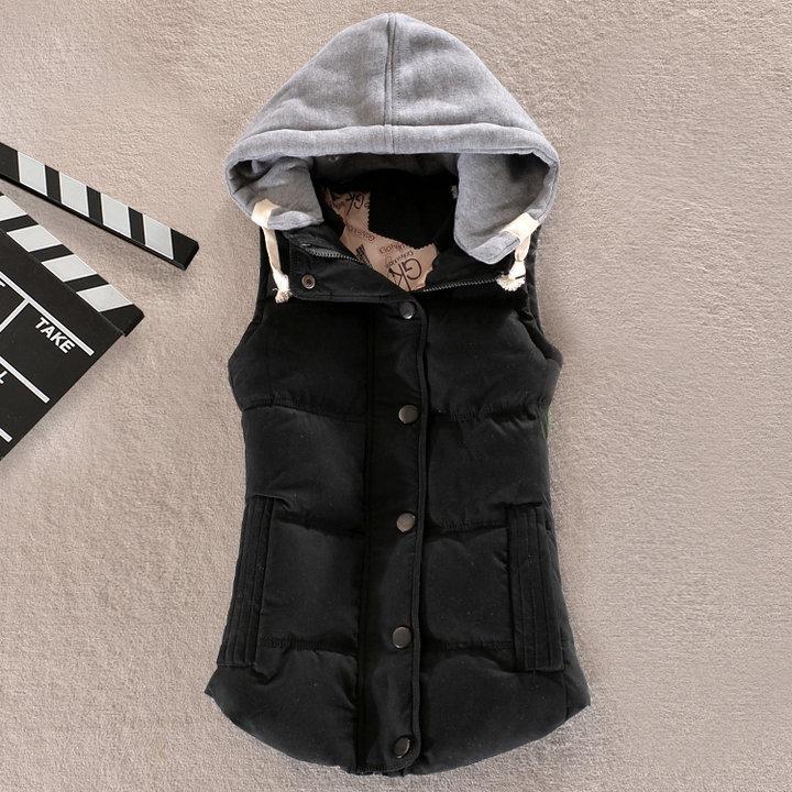 8 цветов зима хлопка-ватник all-матч с капюшоном леди свободного покроя жилет Большой размер м-4xl Multicolors рукавов женщины хлопка пальто