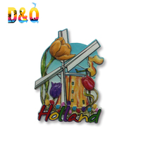 Low MOQ Holland souvenir household items 3D refrigerator magnet custom