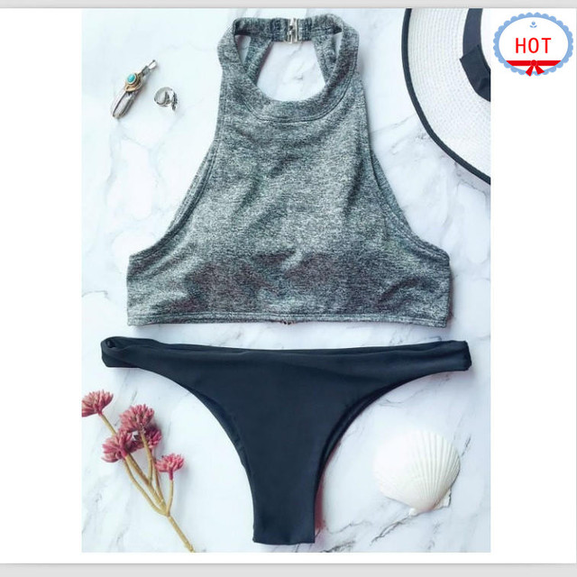 0704f2e2fc74b Private Label OEM Custom made Bikini Bathing Suits Manufacturer BeachSexy  Fashion High Neck Swimsuit Swimwear for