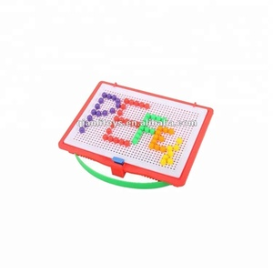 Mosaic board 120 round pegs fun plastic educational game wholesale custom kids puzzle
