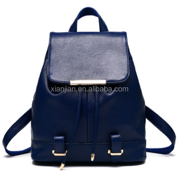 Hot Style Soft PU Leather Women Korean Preppy Style Classic Fashional Backpack