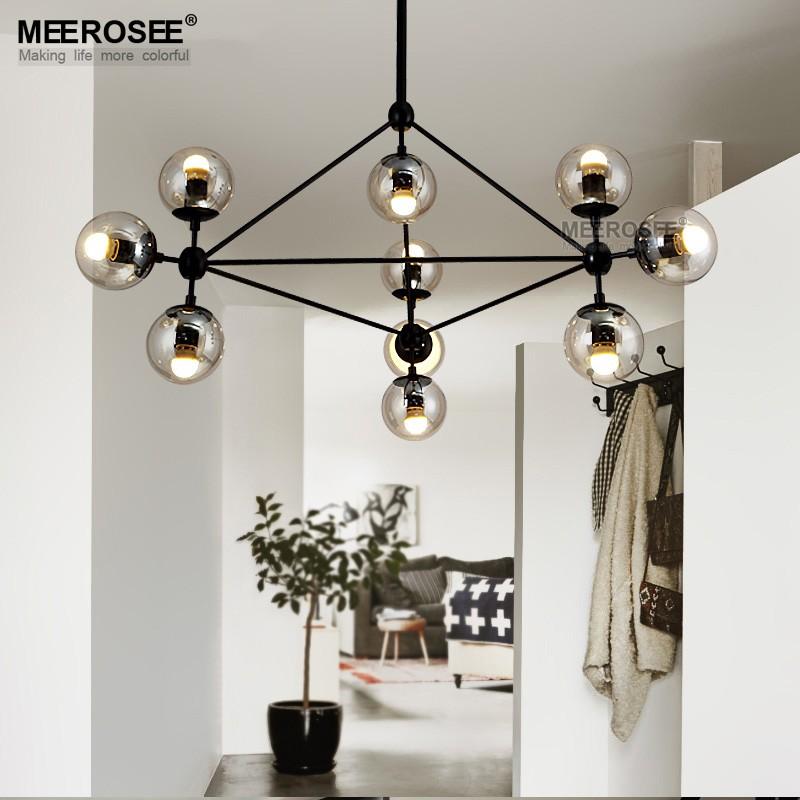 Home Indoor Lighting Hanging Light Fixture Glass Pendant Lights ...