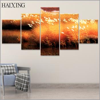 beautiful scenery wall 5 panels canvas painting art prints cheap ...
