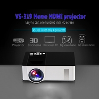 Newest 1500ANSI LM Smart WVGA 800x480 Portable Mini Mobile Projector Android 4.4,1GB DDR3, 8GB NAND FLASH