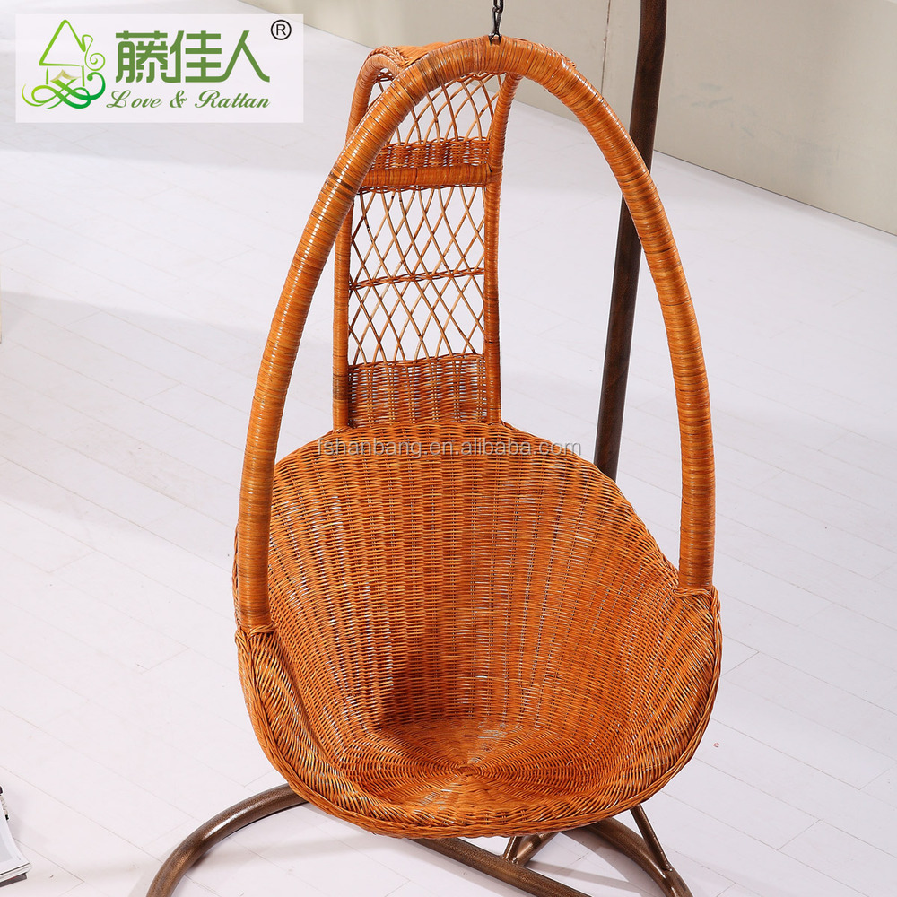 2016 new design rattan wicker hanging cane swing chair for. Black Bedroom Furniture Sets. Home Design Ideas
