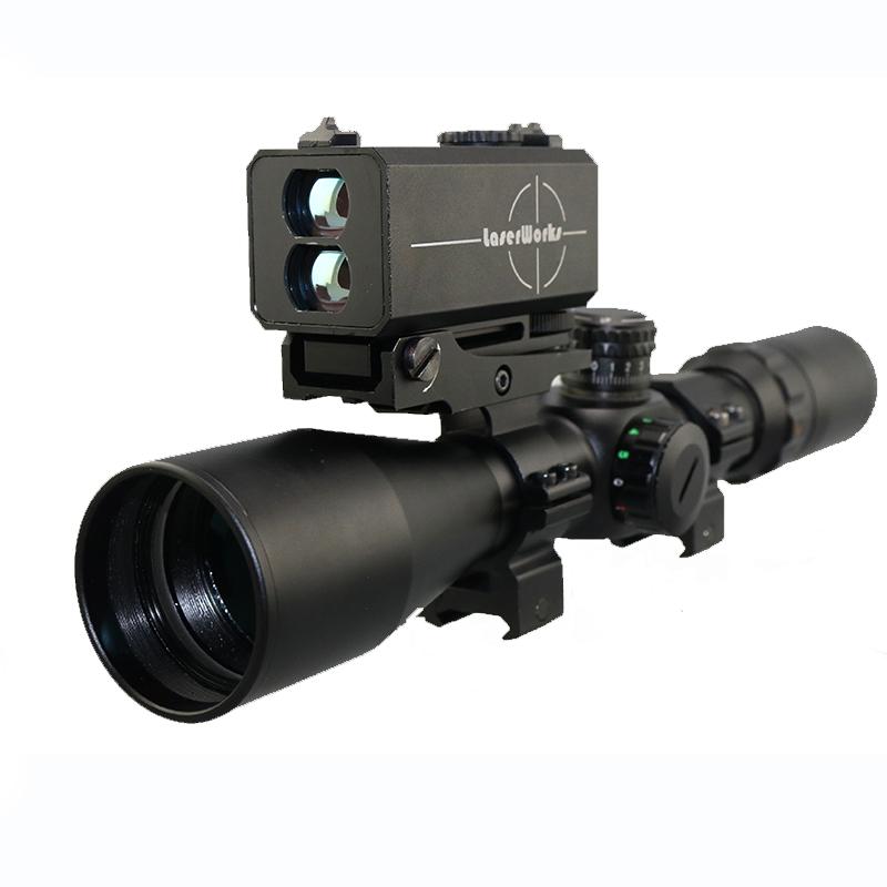 New Le-032 Optic Rifle Scope Laser Rangefinder Left Side Mounted Scope  Riflescope With Adjustable Base - Buy Optic Rifle Scope,Riflescope,Scope