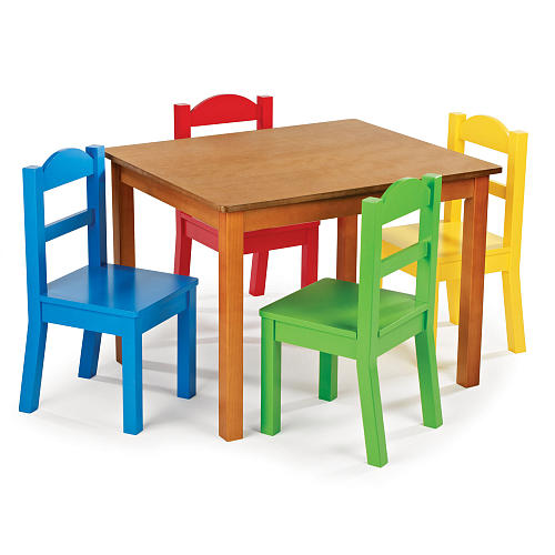 Adjustable Height Wood Kids Table And Chairs Modern